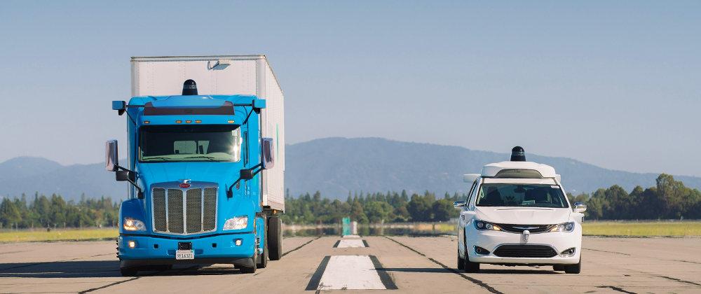 Google usa camiones sin conductor para transportar cargas
