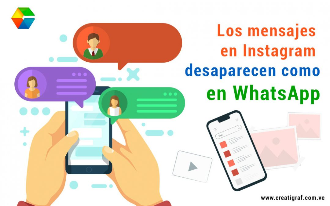Los mensajes en Instagram desaparecen como en WhatsApp