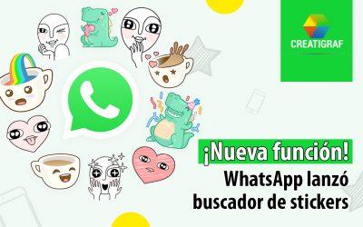 ¡Nueva función! WhatsApp lanzó buscador de stickers