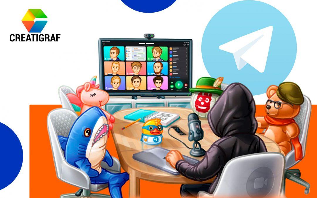 Conoce cómo realizar videollamadas grupales en Telegram