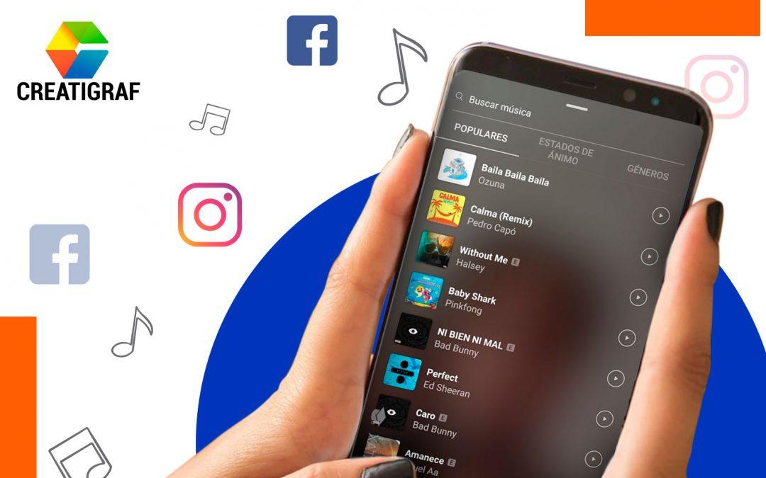 Subir tu música en Instagram y Facebook